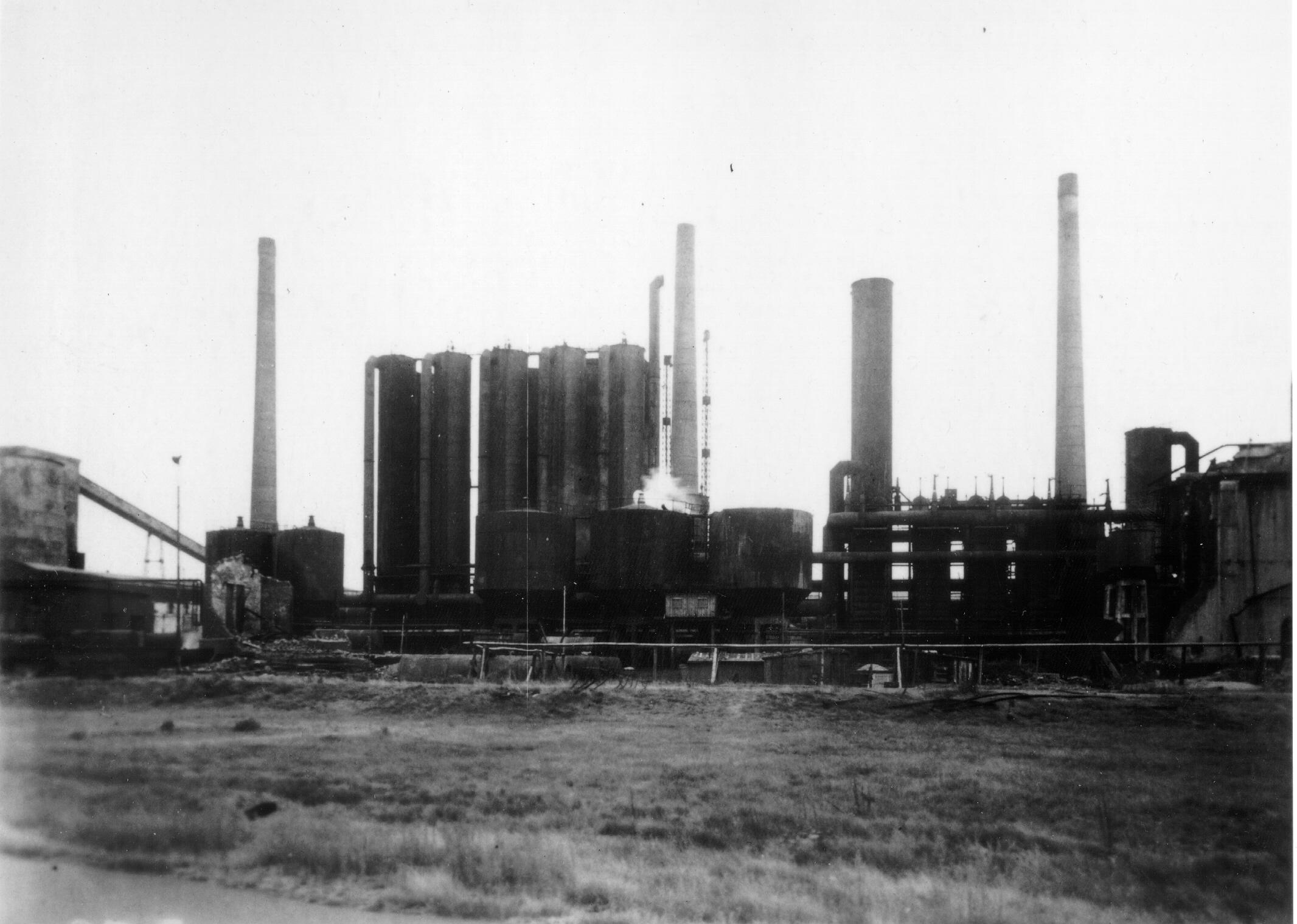 Schwarz-Weiß Fotos der Kokerei Prosper